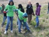 Working with the Riverview school to plant native shrubs on the George White gift