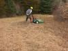 Mowing back field habitat