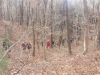 Hikers walking out of Hosea's Swamp