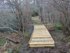Contructing walking boardwalk on Hopkins Gift