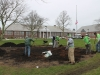 Continued preparation of middle school flower beds