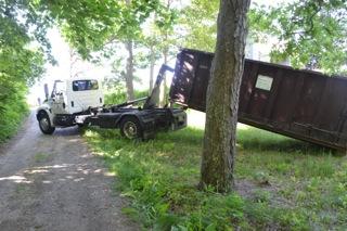 Dumpster arrives